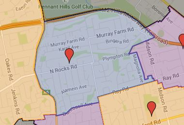 Roselea Public School Catchment Added