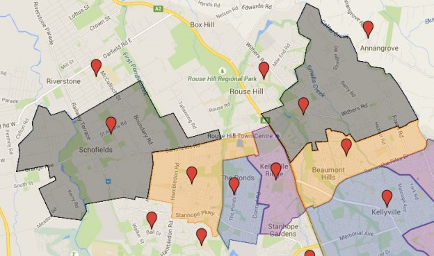 Six more public school catchment in north west Sydney added