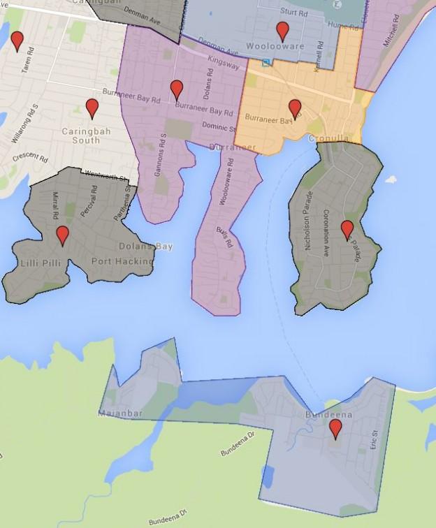 Bundeena, Burraneer Bay , Cronulla, Cronulla South and Lilli Pilli Public School Catchment Map Added