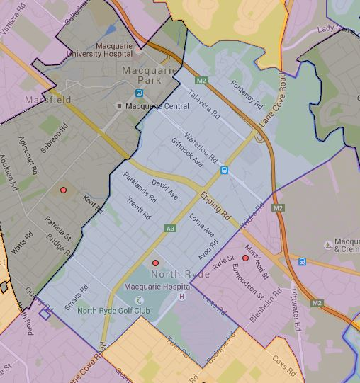 North Ryde Public School Catchment
