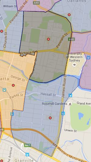 Mini Update to Rosehill and Parramatta East Public School Catchment Map