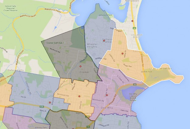 Beacon Hill, Collaroy Plateau, Cromer, Dee Why and Wheeler Heights Public School Catchment Map Added