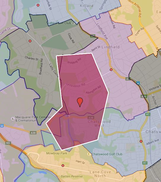 Lindfield West Public School Catchment Map