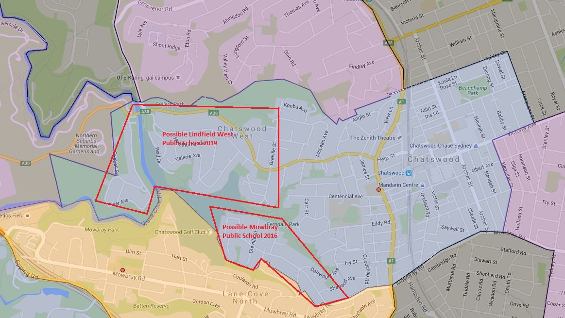 Possible Future Chatswood Public School Catchment