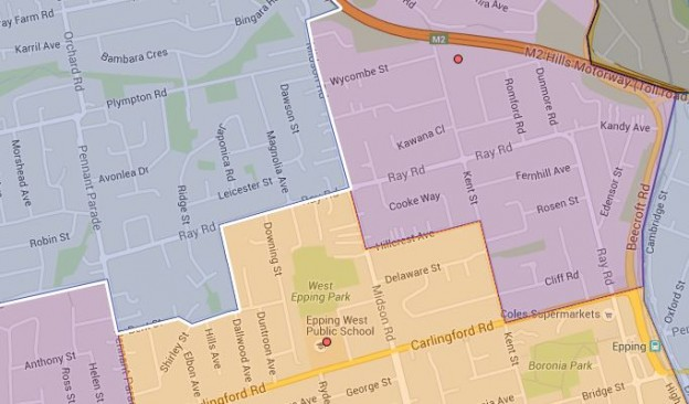 Epping Height, Epping West and Roselea Public School Catchment Map Updated