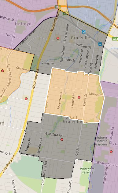 Blaxcell Street, Granville and Granville East Public School Catchment Map Added