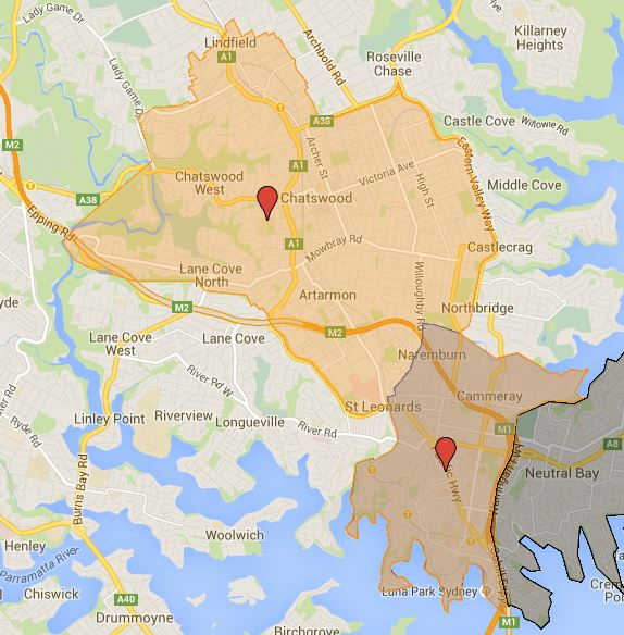Chatswood High School Catchment Map and near future changes