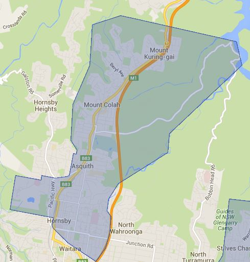 St Ives High School Catchment Northern Drawing Area Map