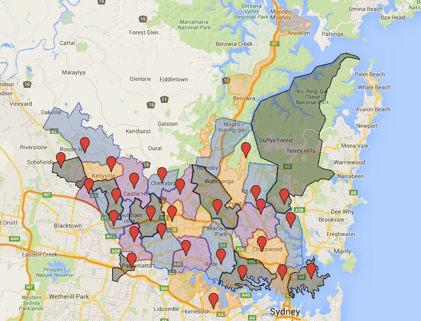 Sydney High School Catchment Map Australian Public School Information