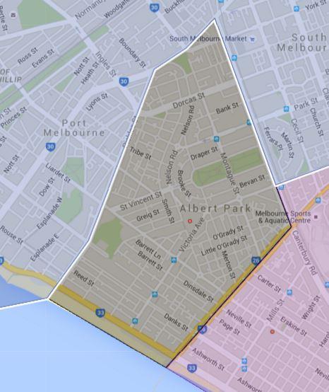 Albert Park Primary School Catchment Map
