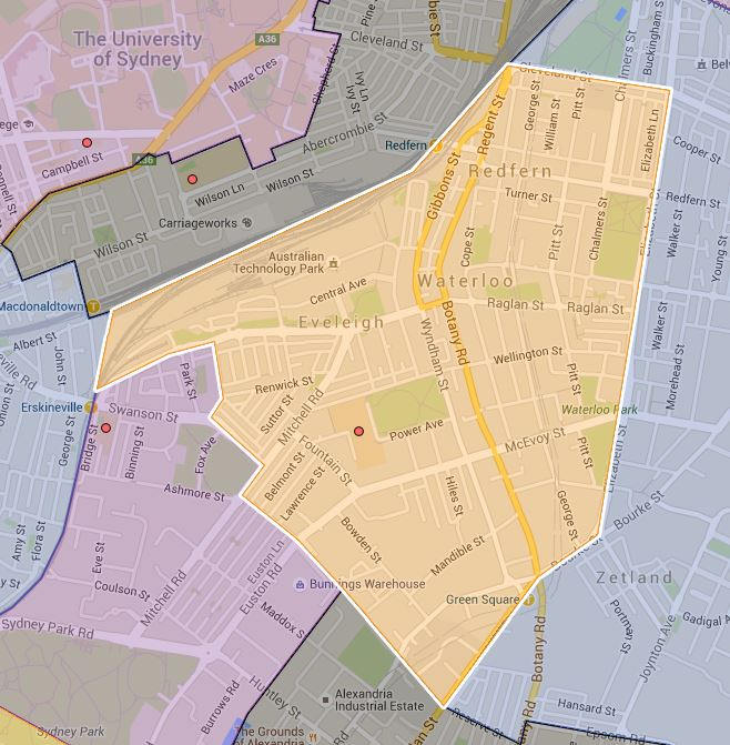 Alexandria Park Community School (K-6) Catchment Map