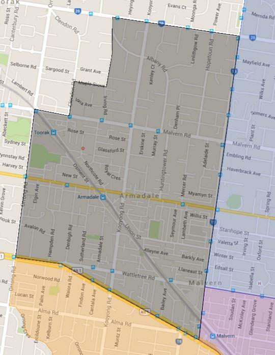 Armadale Primary School Catchment Map