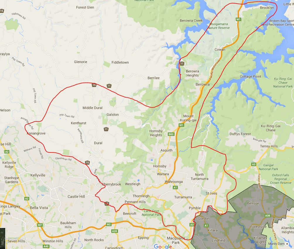 Asquith Boys and Girls High School Catchment Map