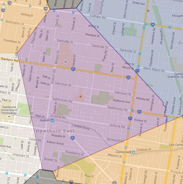 Auburn Primary School Catchment Map