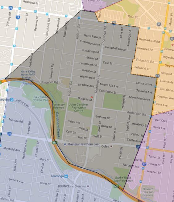 Auburn South Primary School Catchment Map