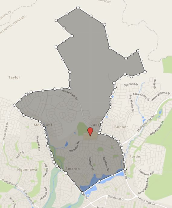 Amaroo School Catchment (Priority Enrolment Area) Map