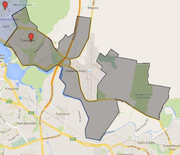 Campbell Primary School Catchment Map