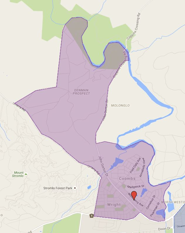 Charles Weston Primary School Catchment Map