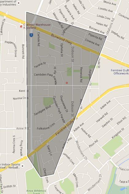 Kent Street Primary School Zone Catchment Map