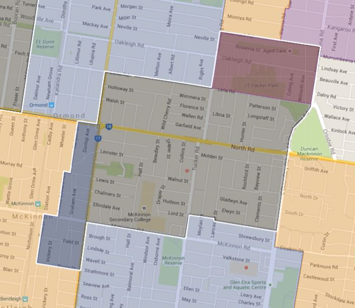 Mckinnon Primary School Catchment Map
