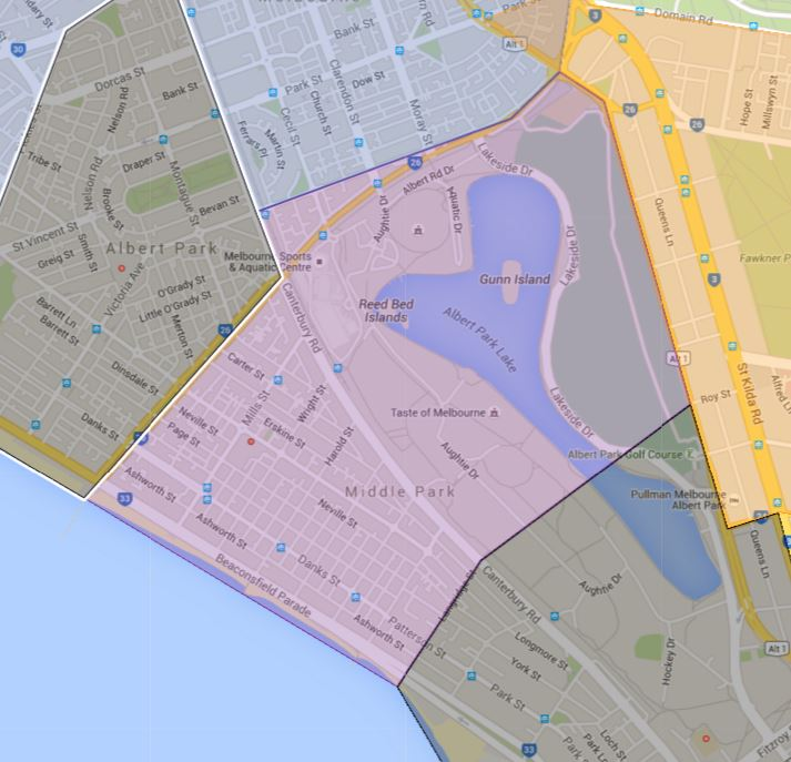 Middle Park Primary School Zone Catchment Map