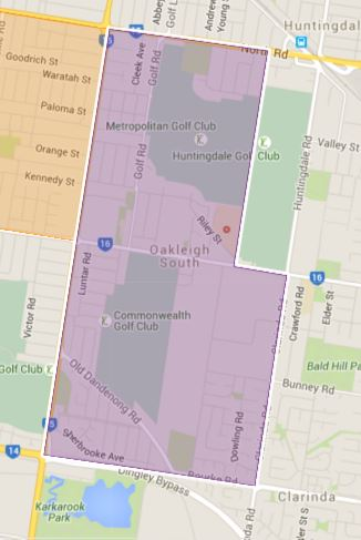 Oakleigh South Primary School Zone Catchment Map