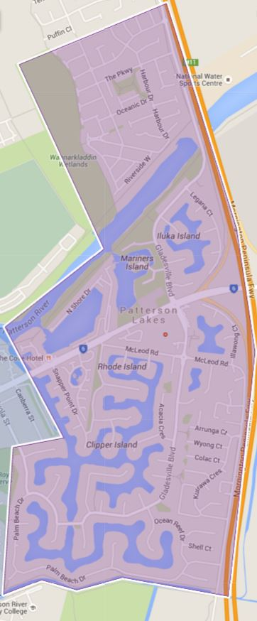 Patterson Lakes Primary School Zone Catchment Map