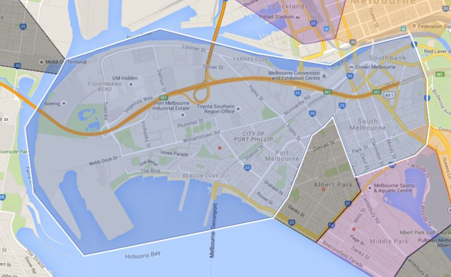 Port Melbourne Primary School Zone Catchment Map