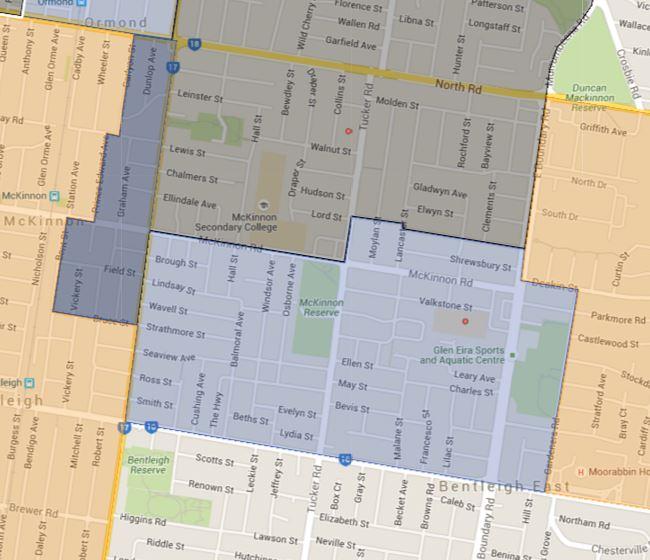 Valkstone Primary School Zone Catchment Map