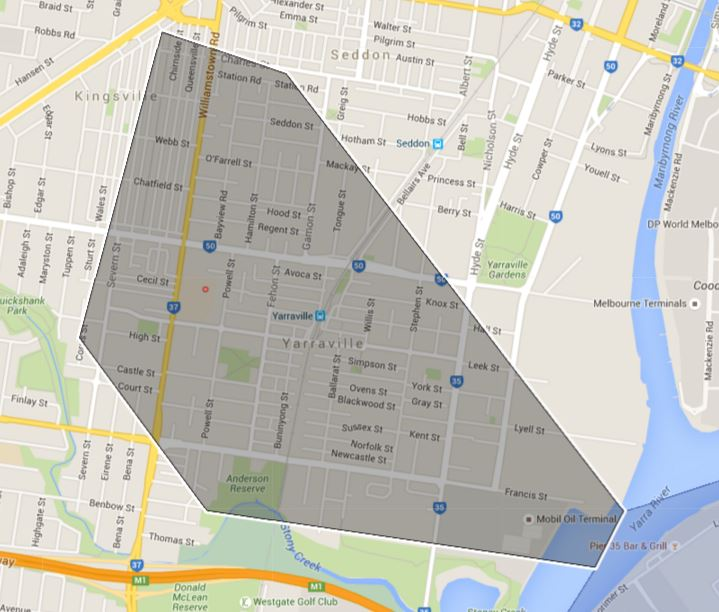 Yarraville Primary School Zone Catchment Map