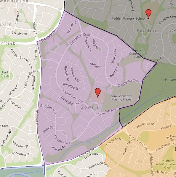 Gowrie Primary School Catchment Map
