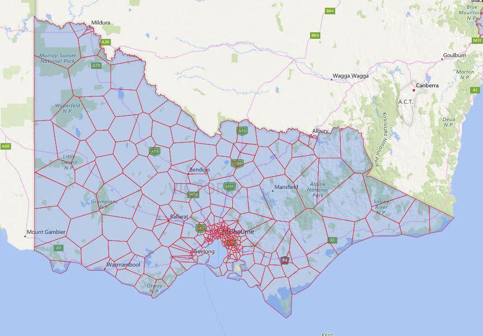 Melbourne Victoria Australia Map.Victoria Melbourne Secondary School Zone Map Australian Public
