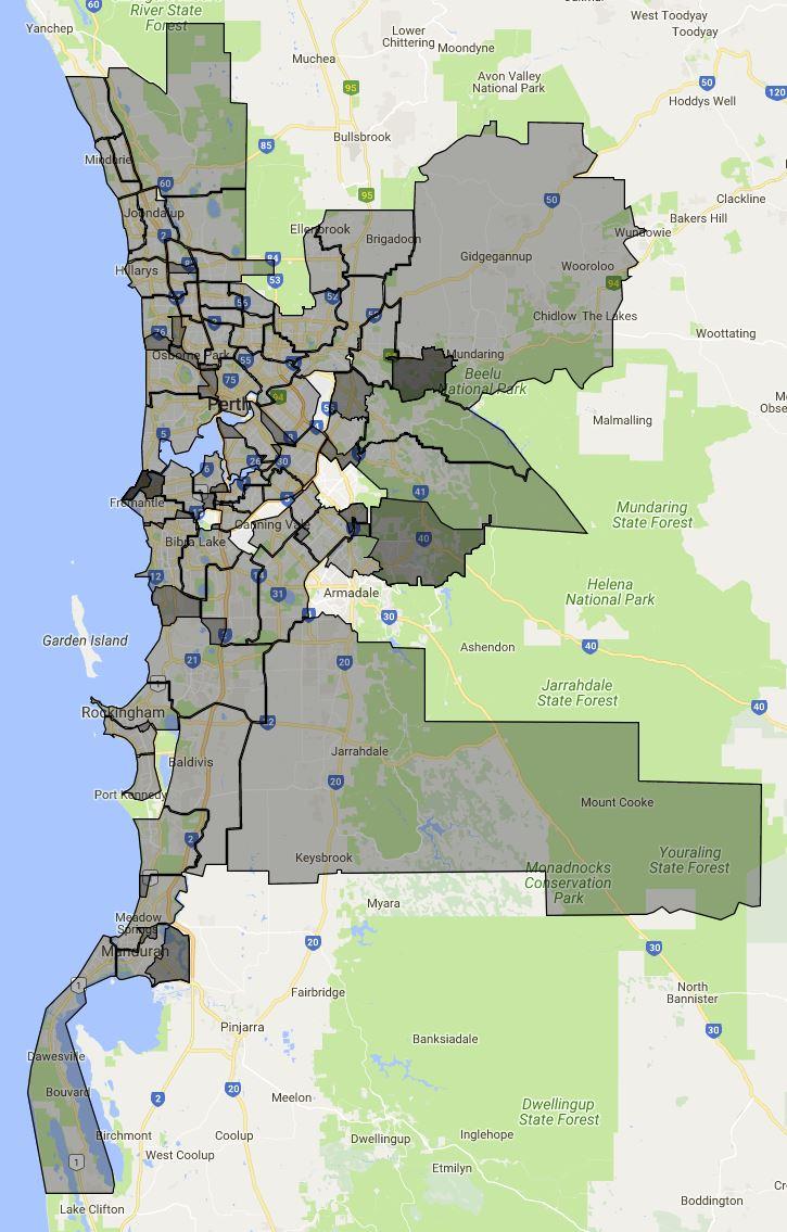 western australia primary school local intake area map