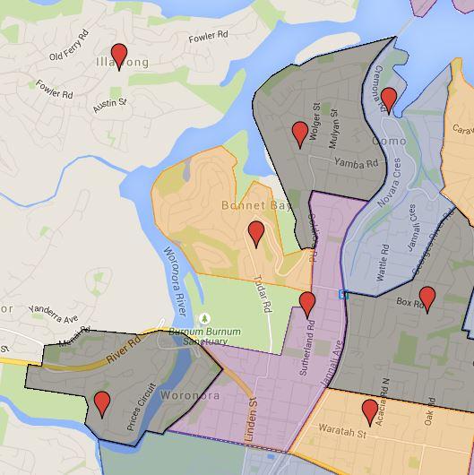 Bonnet Bay, Como, Como West, Jannali and Woronora Public School Catchment