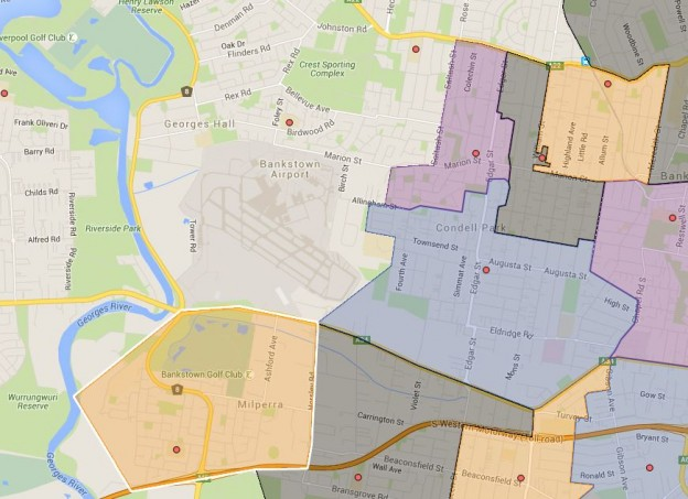 Bankstown West, Condell Park, Milperra, Wattawa Heights and Yagoona Public School Catchment Maps Added