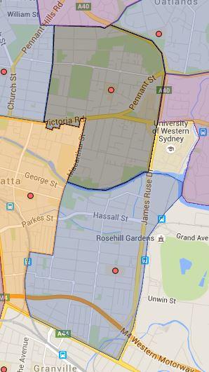Mini Update to Rosehill and Parramatta East Public School Catchment Map
