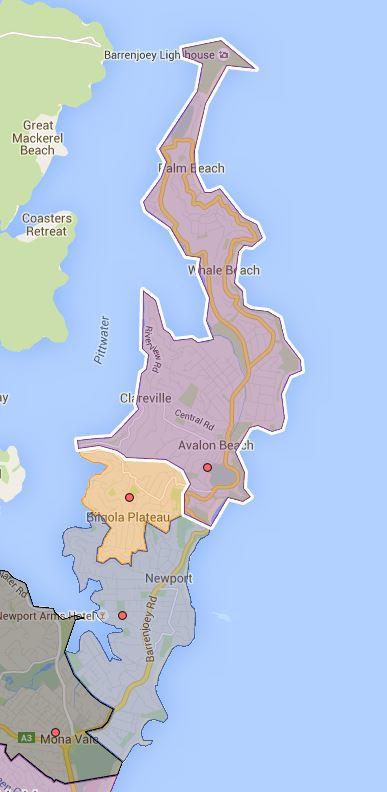 Avalon, Bilgola Plateau and New Port Public School Catchment Map Added