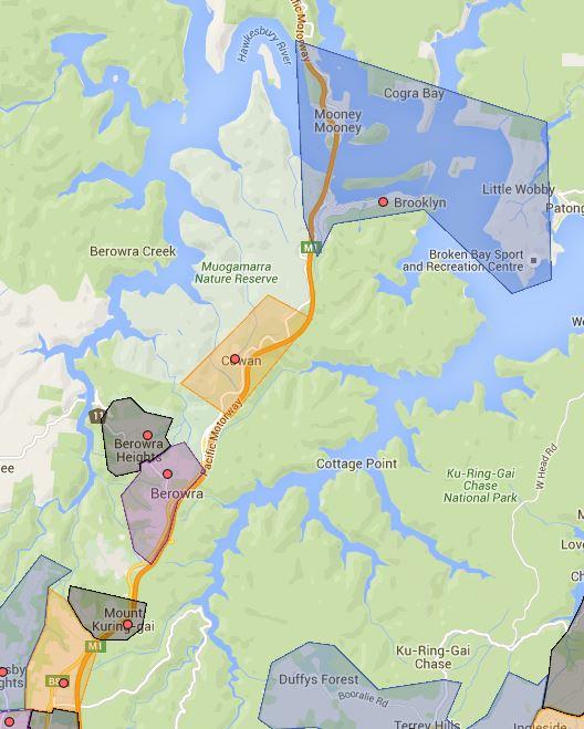 Berowa, Brooklyn, Cowan, Mount Colah, Mount Kuring-Gai and Wideview Public School Catchment Map Added