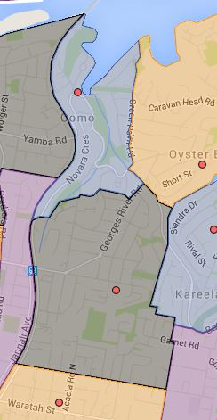 Como and Jannali East Public School Catchment Map Updated
