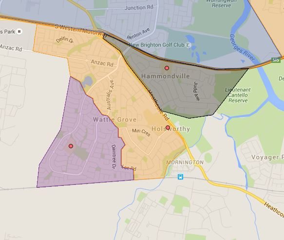 Hammondville, Holsworthy and Wattle Grove Public School Catchment Map Added