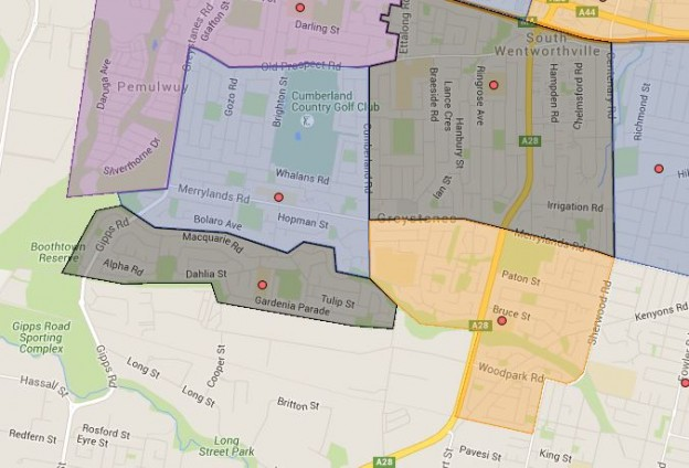 Greystanes, Sherwood Grange and Widemere Public School Catchment Map Added
