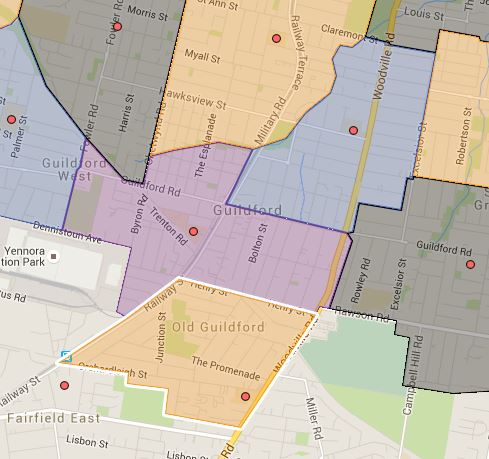 Granville South, Guildford and Old Guildford Public School Catchment Map Added