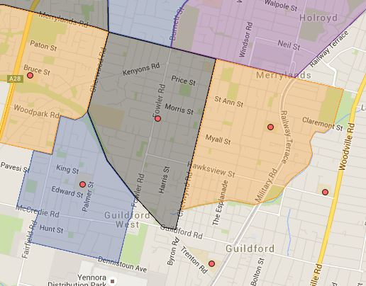 Guildford West, Merryland and Merryland East Public School Catchment Map Added