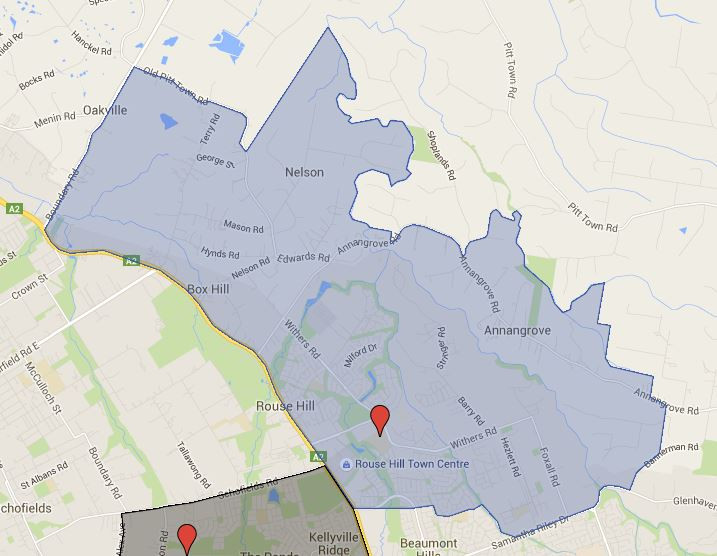 Rouse Hill Map Rouse Hill High School Catchment Map Added – Australian Public  Rouse Hill Map